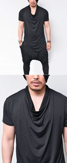 Tops :: Cooling Fabric Long Ice Turtle-Tee 561 - Mens Fashion Clothing For An Attractive Guy Look