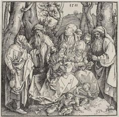 The Holy Kinship and Two Musical Angels - Albrecht Durer