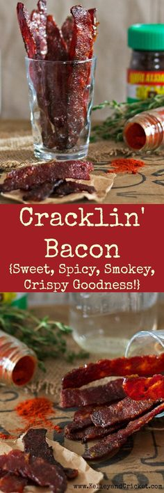 This Cracklin' Bacon is SO ADDICTIVE! The cooking method ensures it's super crispy! The flavors are the perfect combo of sweet-salty-smokey. It's super easy to make and contains no refined sugars and (Bake Goods Bacon) Paleo Bacon, Bacon Recipes, Paleo Recipes, Cooking Recipes, Bacon Bacon, Bacon Fest, Smoker Recipes, Barbecue Recipes, Slow Cooking