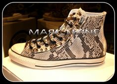 One More Custom Leather Design Converse All-Star with Zip & Black Nickel Spikes Created By Mark Leone ® Βρες το αγαπημένο σου δερμάτινο σχέδιο απο την μοναδική συλλογή μας ,και αποκτήστε το!! Για παραγγελίες ,η για οποιαδήποτε άλλη πληροφορία στείλτε μήνυμα στη σελίδα μας. Διαθέσιμο σε νούμερα -->ΑΠΟ 37 εως 46,5. Available sizes from-->4,5 uk to 12 uk. For more details ,orders or further information about our creations please send us an inbox message. Custom Converse, Converse All Star, Front Row, Louis Vuitton, Stars, Sneakers, Fashion, Trainers, Moda