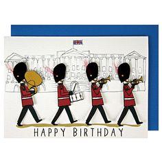 Meri Guards At The Palace Birthday Card