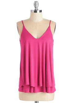 Let's Tier it for the Poise Top in Magenta. Take your stylish one-woman show on the road for girls night out in this sassy fuchsia tank. #pink #modcloth