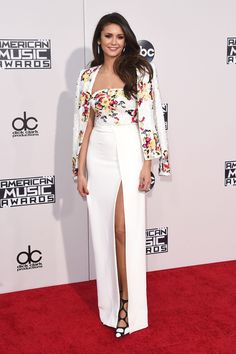 Nina Dobrev on the American Music Awards red carpet. Click through to see all the best #AMAs looks!