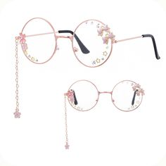 Glasses Frames Trendy, Fake Glasses, Cool Glasses, New Glasses, Ropa Color Pastel, Fashion Eye Glasses, Cute Sunglasses, Kawaii Clothes, Cute Jewelry