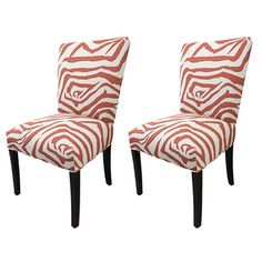 Julia Zebra Fan Back Chairs (Set of 2)   Overstock.com Shopping - The Best Deals on Dining Chairs