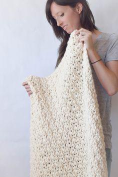 Chunky Crochet Blanket Free Pattern                              …