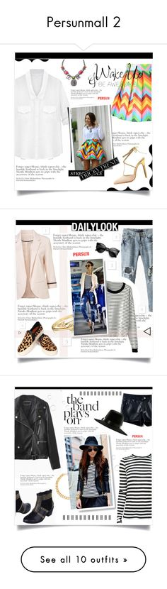 """""""Persunmall 2"""" by jecikilicica ❤ liked on Polyvore featuring persunmall, Bling Jewelry, Proenza Schouler, Alessandra Rich, stripes, rock, UNIF, highwaistedjeans, Carvela and Kate Spade"""