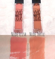 """@maybelline Vivid Matte Liquid Lips ❤️ I finally wore Nude Flush all day yesterday and I actually really like it! It is NOT a ""matte"" liquid lipstick that…"""