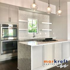 Markraft Cabinets, Inc offers custom cabinet design and installs for kitchens and baths. Grey Kitchens, Custom Cabinets, Cabinet Design, Kitchen And Bath, Home Remodeling, Countertops, Kitchen Cabinets, Bathroom, Home Decor