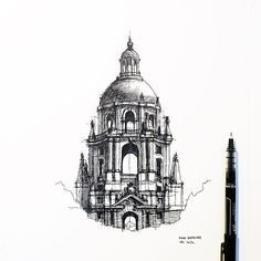 I drew/re-drew this several times. Repeat. - Check out #dhsketch for more - #arquitetapage #iarchitectures #archilovers #archisketcher #arch_more #archcenter #superarchitects #arch_sketch #architecturesketch #ar_sketch #archihub #sketch_daily #papodearquiteto #arqsketch #urbansketch #urbansketchers #nationalart