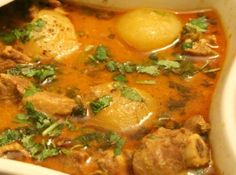 Aloo Gosht A popular North Indian gravy side dish with mutton and potatoes. #recipe