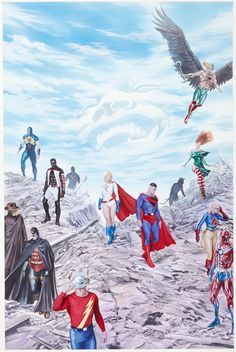 Alex Ross Justice Society of America #14 Cover Painting Original | Lot #92168 | Heritage Auctions