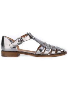 CHURCH'S Metallic Flat Sandals. #churchs #shoes #flats