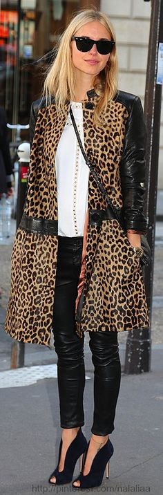 Leather and leopard what more could you ask for????
