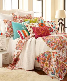 Love this Orange & Natural Quilt Set by Levtex Home on #zulily! #zulilyfinds