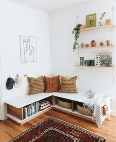 office home small ~ office home . office home ideas . office home decor . office home design . office home gym combo . office home ideas for women . office home small Living Room Decor, Living Spaces, Bedroom Decor, Living Room Bench, Budget Bedroom, Living Area, Spare Room Decor, 1920s Bedroom, Bedroom Ideas