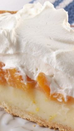 Peach Custard Cream Pie