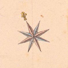 Rose des vents - détail d'une carte de Toulon, 1776 (c) Musée des Plans-reliefs, cote C277