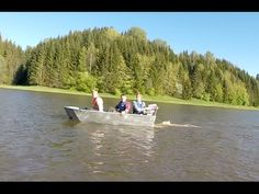 Duct tape boat first test - YouTube