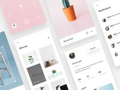 Profile, Camera & Editor screens