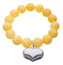Colours of Fabulous Heart Bracelet in Freesia. Visit www.fabuleuxvous.com
