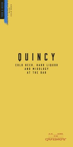 DIRECTION B / typeface inspo/ Art of the Menu: Quincy