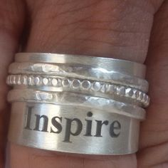 Inspire sterling silver ring..