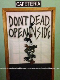 Dont open dead inside The walking dead door decor Halloween