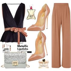 A fashion look from June 2017 by fsjamazon featuring Roksanda, Fleur du Mal, Salvatore Ferragamo, Heels and shoes