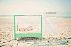 First beach newborn session <3
