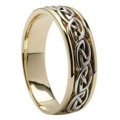 14K Mans Celtic Knot Wedding Ring