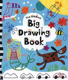 Big Drawing Book- perfect for preschool through elementary- 4-6 steps on every page and ideas for background!  LOVE THIS BOOK!