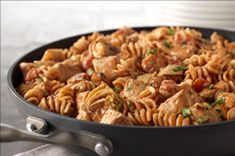 Rotini & Spicy Chicken in Creamy Tomato sauce...Must try and i could do healthier modifications