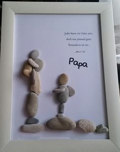 "Product name ""dreamteam"" pebble picture worked on glass frame .- Produktname ""dreamteam"" Kieselsteinbild auf Glasrahmen gearbeitet mit den Maßen… – DIY Ideen Product name dreamteam pebble picture on glass frame worked with the dimensions - Father Birthday Gifts, Cool Fathers Day Gifts, Diy Father's Day Gifts, Father's Day Diy, Fathers Day Crafts, Diy Christmas Gifts, Gifts For Dad, Christmas Christmas, Birthday Presents"