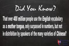 TESOL ESL [ English Facts ] 400 Million People