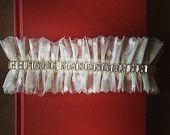 Bridal Garter: GORGEOUS Swarovski Crystal & Ivory Point d'Esprit Garter