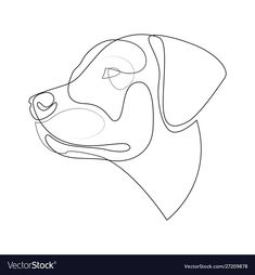 Continuous line labrador retriever single line vector image on VectorStock Labrador Retriever, Labrador Puppies, Retriever Puppies, Corgi Puppies, Dog Line Art, Dog Logo Design, One Line Tattoo, Ink Doodles, Blue Tattoo