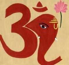 Ganesha art   Om Ganesha Painting by Rashi Vij - Om Ganesha Fine Art Prints and ... Use outline ten zentangle within