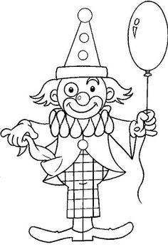 Κατασκευή κλόουν Colouring Pages, Printable Coloring Pages, Coloring Sheets, Coloring Pages For Kids, Coloring Books, Clown Crafts, Circus Crafts, Mouse Crafts, Circus Decorations