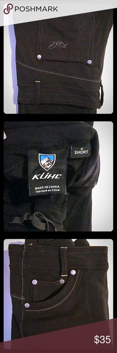 Black Kuhl brand stretch pants Brand new no tags o never wore them cause I dont like straight leg  they are black with white stitch  straight leg stretch pants Kuhl brand Kuhl Pants Straight Leg