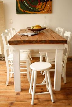 Marktplaats.nl > Grote eettafel met wit onderstel, voor 6 tot 8 ...