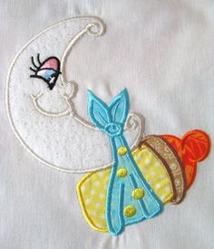 My Little Moon 05 Machine Applique Embroidery Design - 5x7