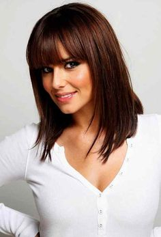 haircuts for square faces with bangs - Google Search