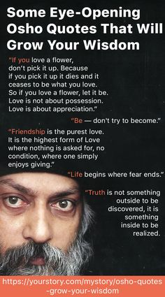 Acharya Rajneesh's wisdom was at a whole other level and this can be proved by these quotes Osho Quotes On Life, Osho Hindi Quotes, Smile Quotes, Reality Quotes, Mood Quotes, Wise Proverbs, Proverbs Quotes, Spiritual Love, Spiritual Quotes