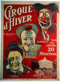 Les affiches vintage du Cirque d'Hiver Bouglione !1920's   © Cirque d'Hiver Bouglione  Réservez vos places pour la Tournée : http://www.cirquedhiver.com/reservations/