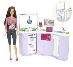 mattel l9484 poupe barbie cuisine poupee