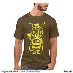 Customizable T-Shirt made by Zazzle Apparel. Logo Bee, Retro Advertising, Cartoon T Shirts, Tshirt Colors, Funny Tshirts, Retro Vintage, Fitness Models, Unisex, Dark