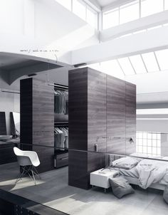 20 Beautiful Examples Of Bedrooms With Attached Wardrobes | Design Sticker