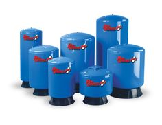 Myers PRO-Source PLUS steel pressure tanks are designed and manufactured for lasting durability and value. From 19 - 119 gallons maximum capacity. Seamless, One-Piece Water Cell, electrostatically-applied polyester paint, 100% leak tested, and metal air valve assembly are just a few of their key features.
