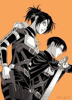 Hanji Zoe x Levi Ackerman / Shingeki no Kyojin Anime Boys, 5 Anime, Fanarts Anime, I Love Anime, Anime Characters, Anime Art, Attack On Titan Ships, Attack On Titan Fanart, Attack On Titan Levi
